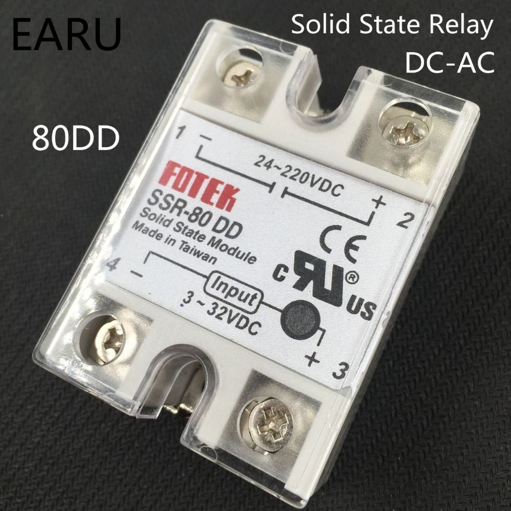 1 pcs solid state relay SSR-80DD 80A 3-32V DC TO 5-60V DC