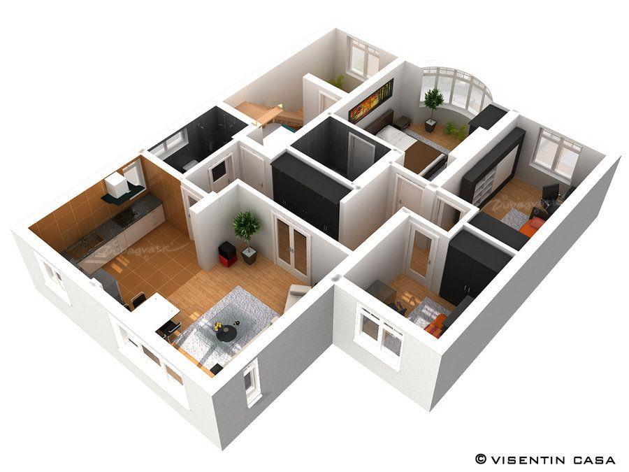 3D Plan Render