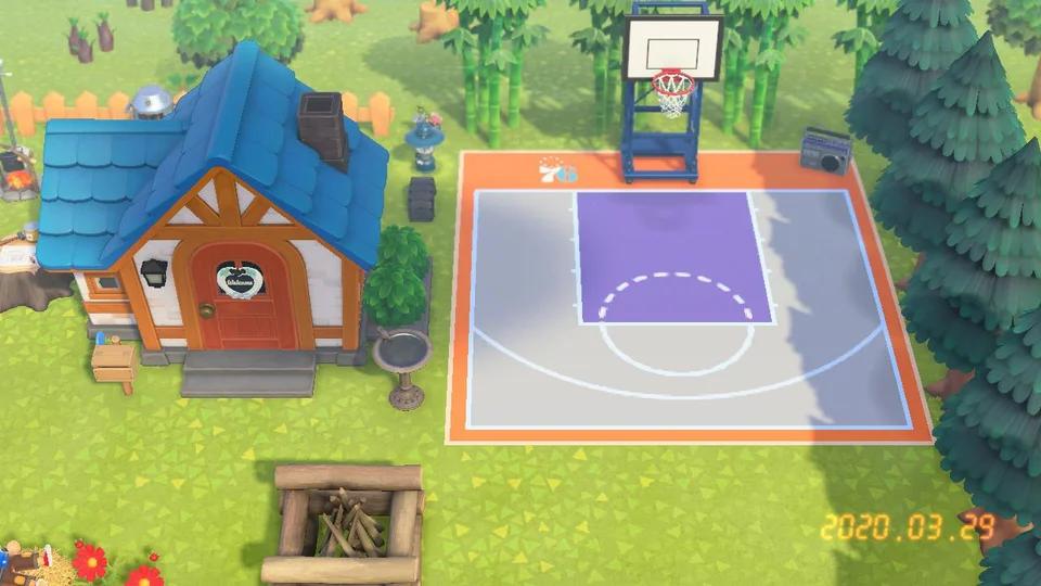 Basketball Court Animalcrossing In 2020 Animal Crossing Qr Animal Crossing Game Animal Crossing