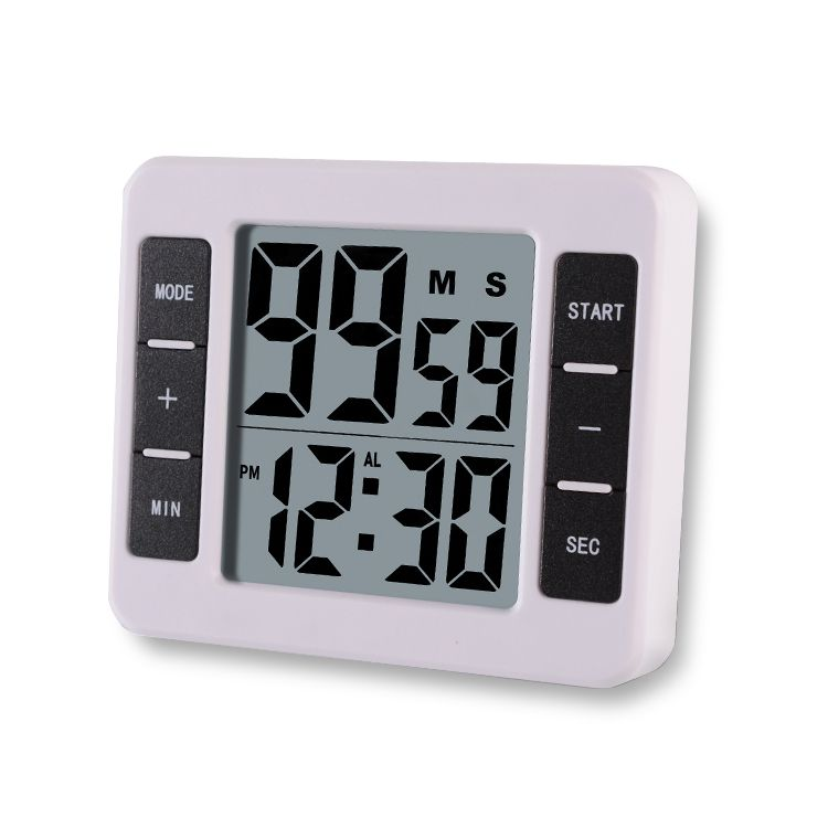 Electric Digital Kitchen Timer Big Digits Loud Alarm Magnetic Backing Stand
