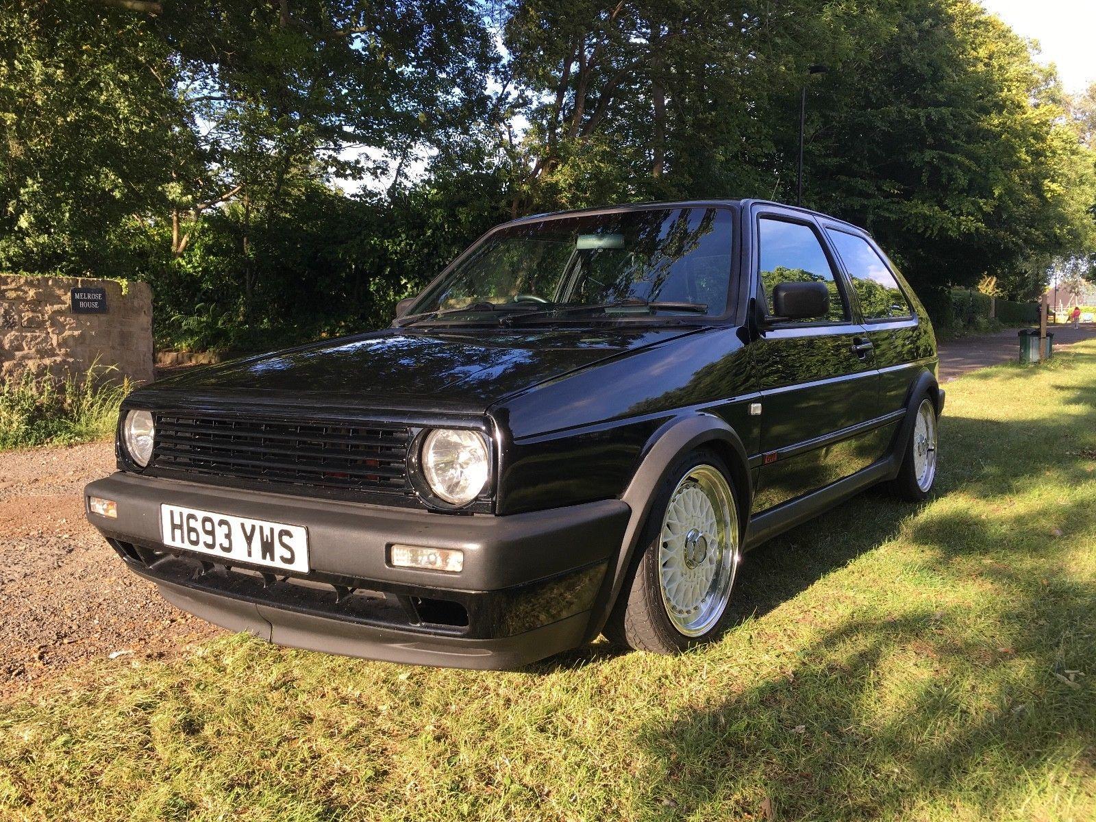 Vw Mk2 Golf Gti 8v 1990 Schwarz Black Pinterest And Volkswagen Ebay 1990s Cars