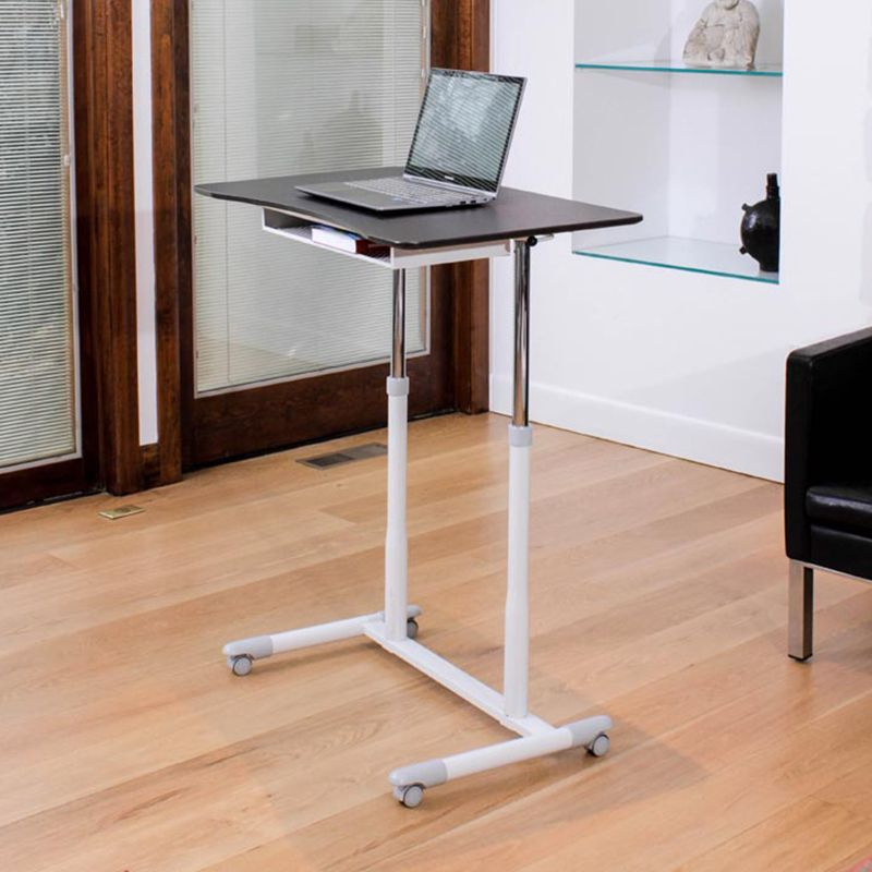 Height Adjustable Laptop Desk Item Fa6055 A Durable And Sturdy Sit To Stand Desk This Height Adjustable Sit Adjustable Height Desk Sit To Stand Laptop Desk