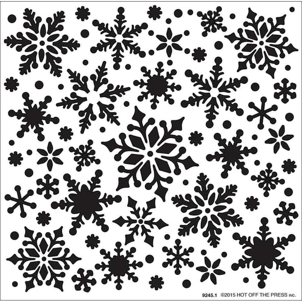 All Over Snowflakes Stencil on www.addictedtorubberstamps.com ...