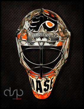 Front View Of Steve Mason S Zombie Mask Zombie Mask Goalie Mask New Zombie