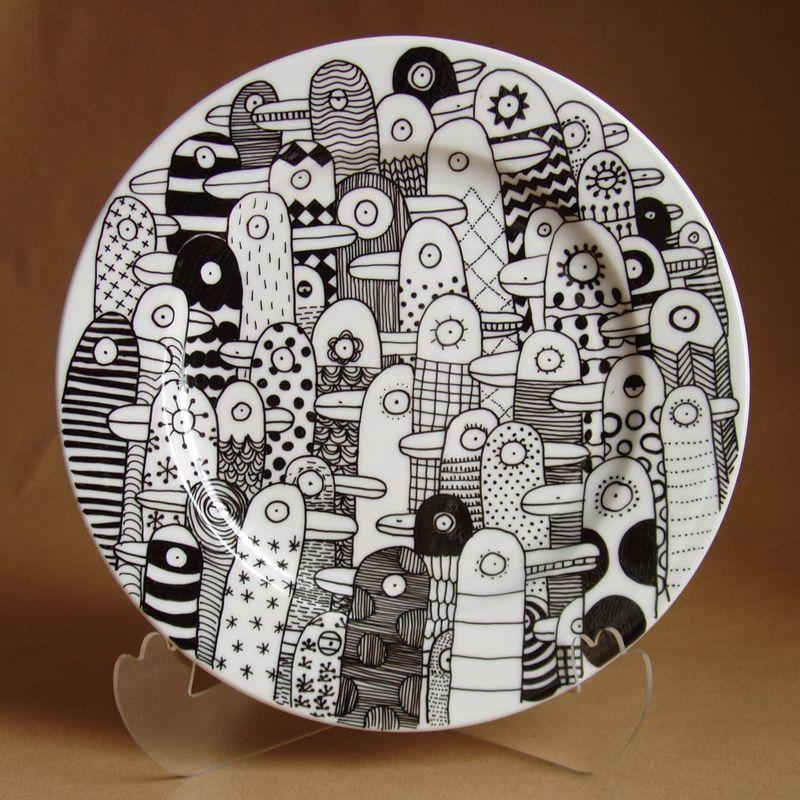 love b w pinterest keramik teller bemalen and porzellan. Black Bedroom Furniture Sets. Home Design Ideas