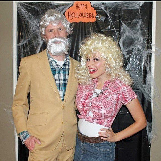 Kenny Rogers and Dolly Parton | Easy couples costumes, Diy ...