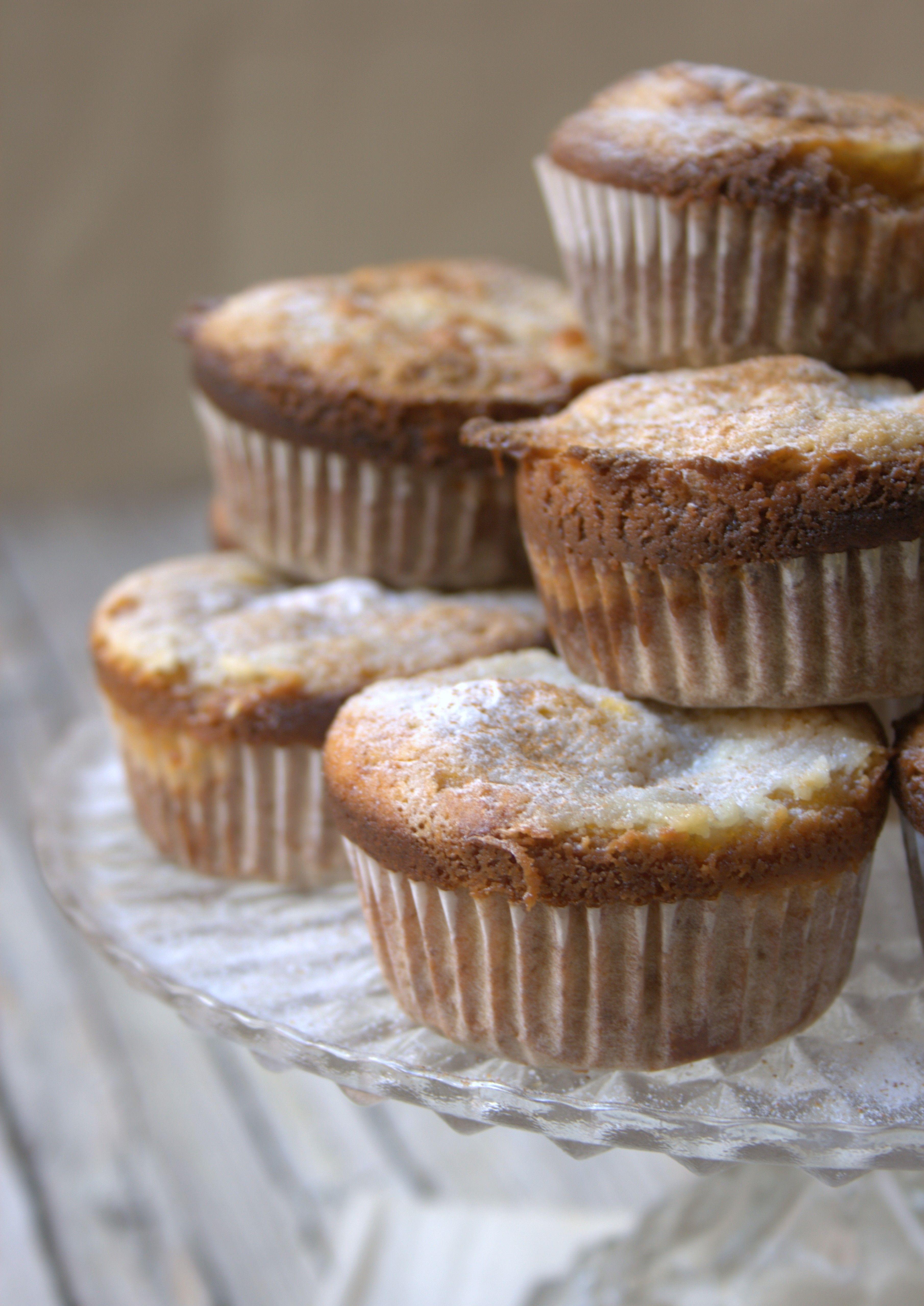 muffins de calabaza con frosting de queso crema gratinado (receta sin azúcar añadido)