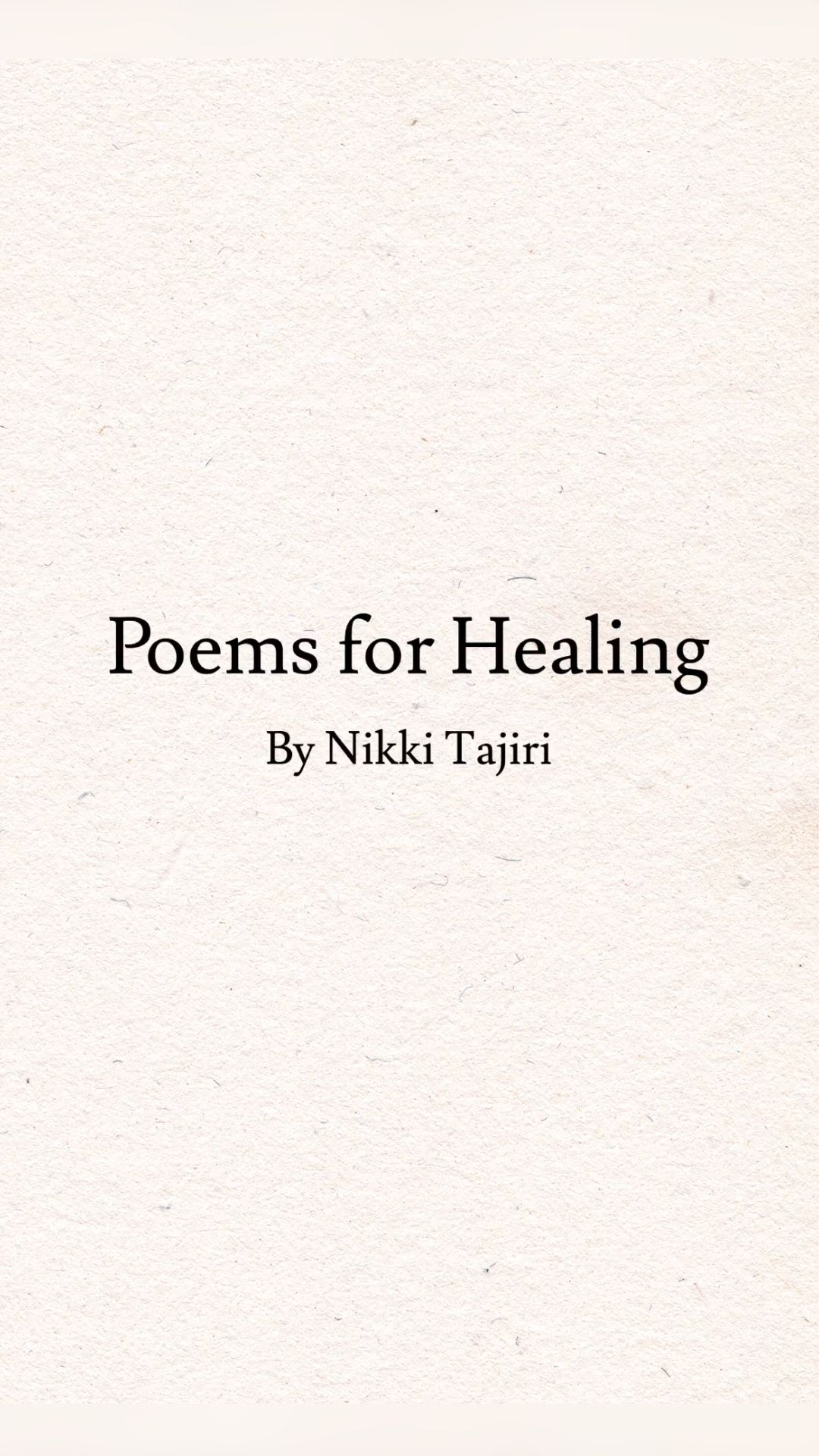 Poems for Healing   Healing Words