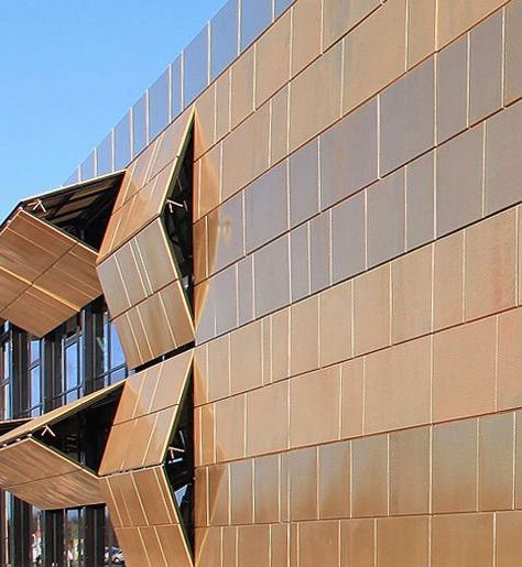 Pro aurum gold trading copper alloy horizontal shutters Folding facade