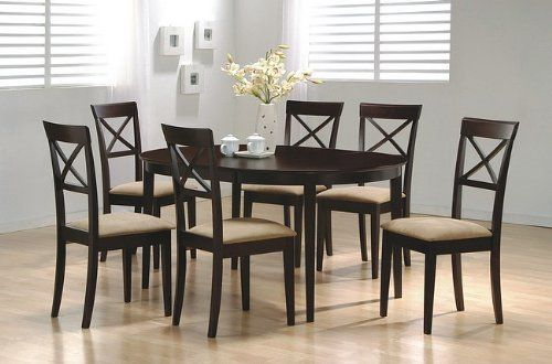 5 Pc Cappuccino Dining Set By Coaster Home Furnishings 552 92