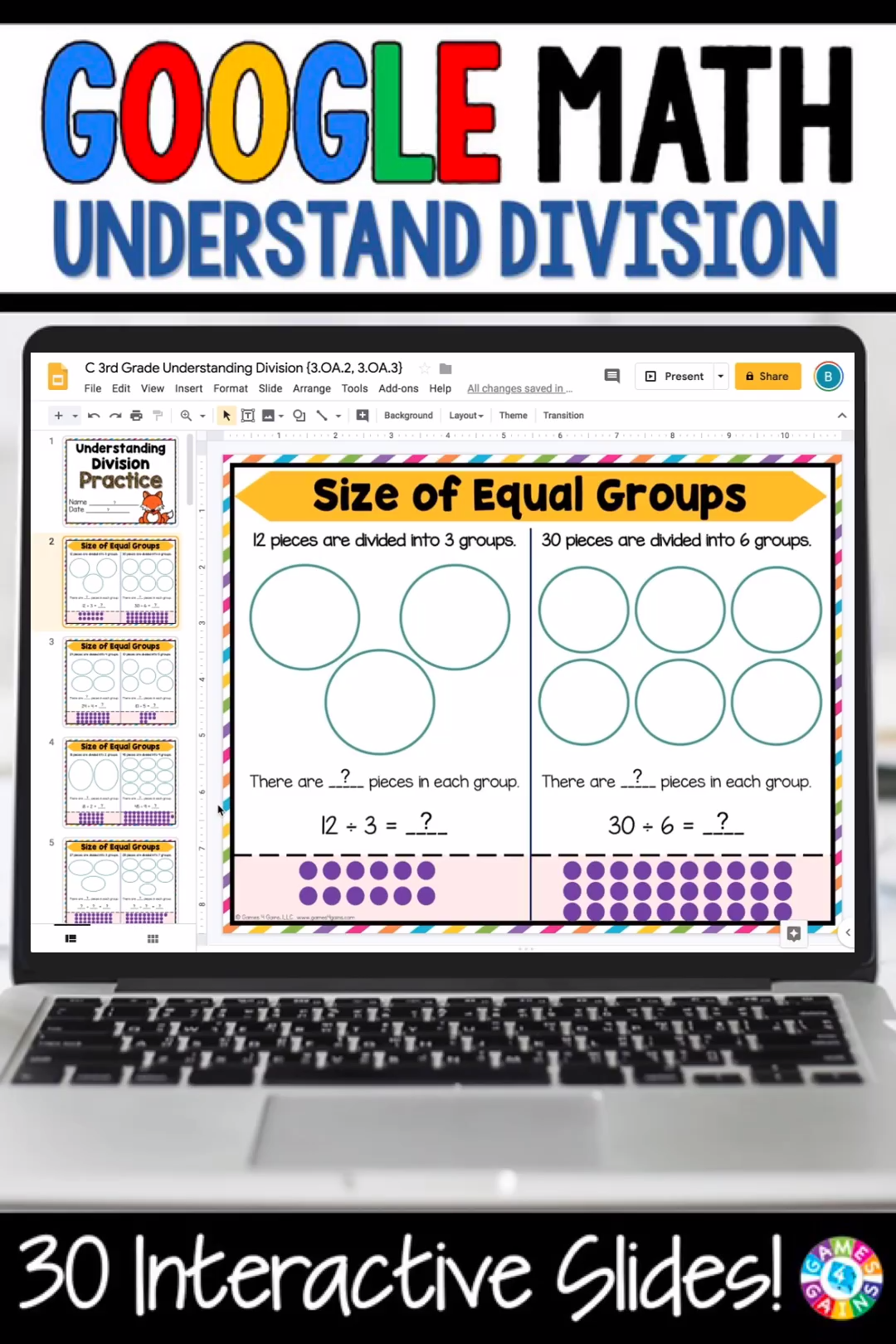 3rd Grade Division Equal Groups Arrays 3 Oa 2 3 Oa 3