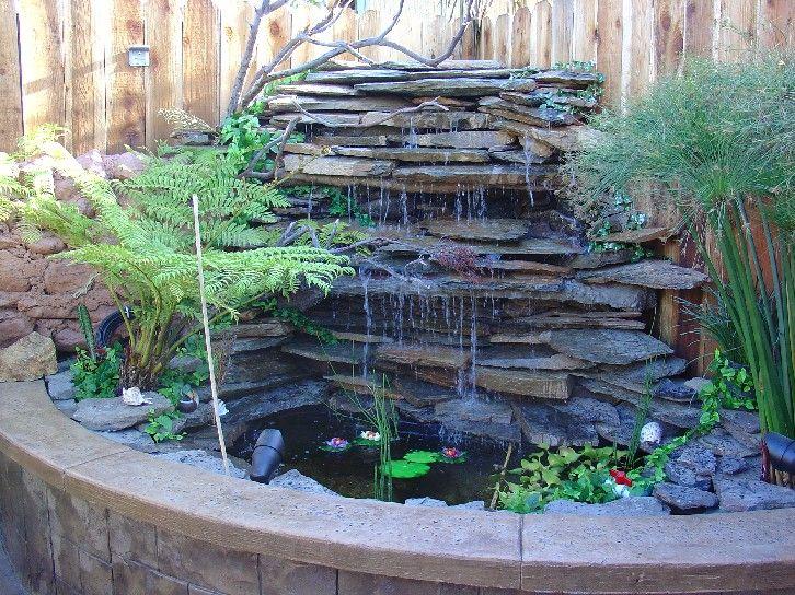 Jardines y fuentes buscar con google para mi jardin for Estanques de jardin con cascadas para peces