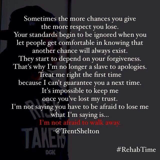I'm not afraid to walk away..!