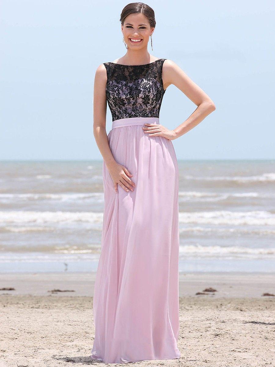 Magnificent scoop neck lace sleeveless aline bridesmaid dresses