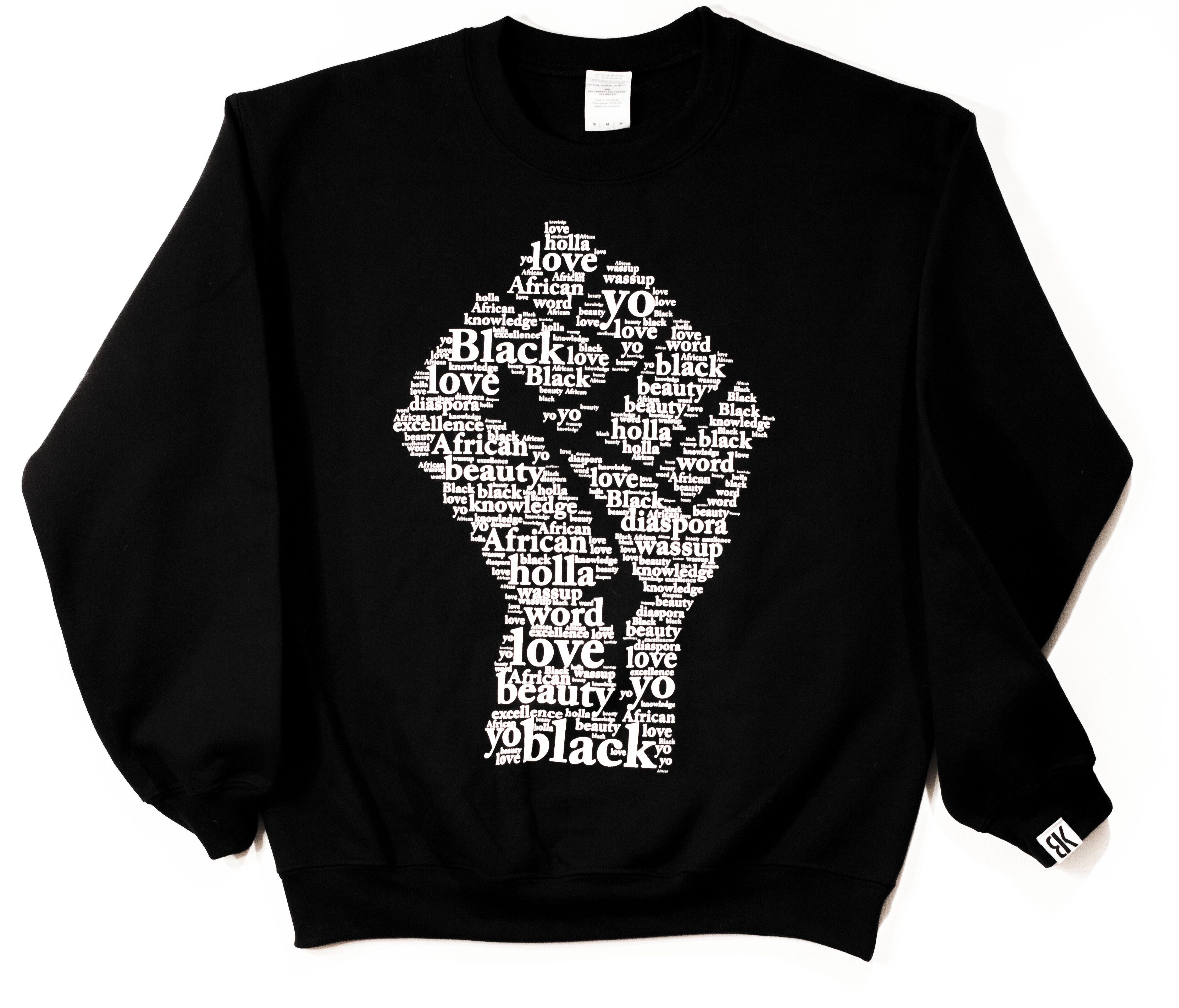 sweatshirt, with black power fist Sweatshirts, Black