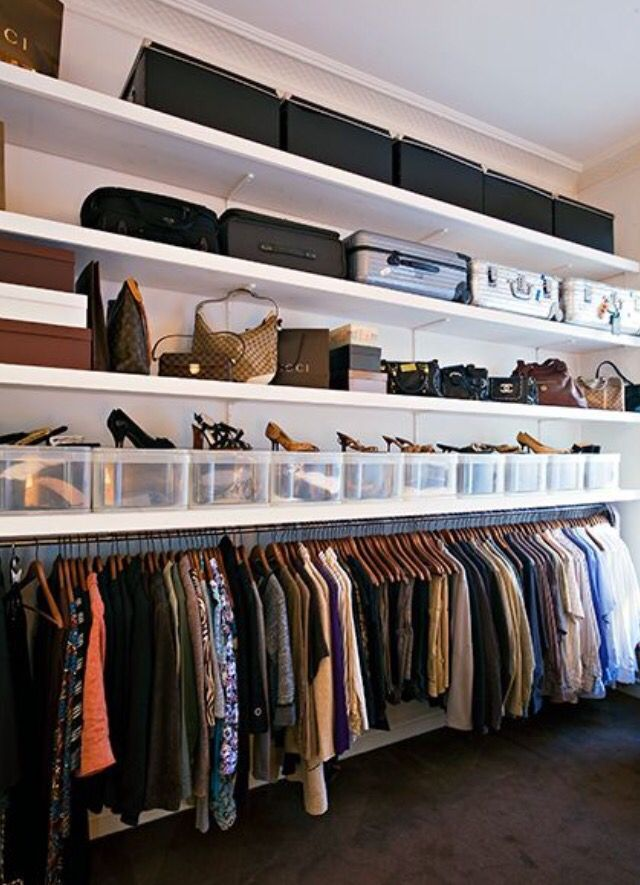 @perfeitaordem | Bedroom storage ideas for clothes, Closet ...