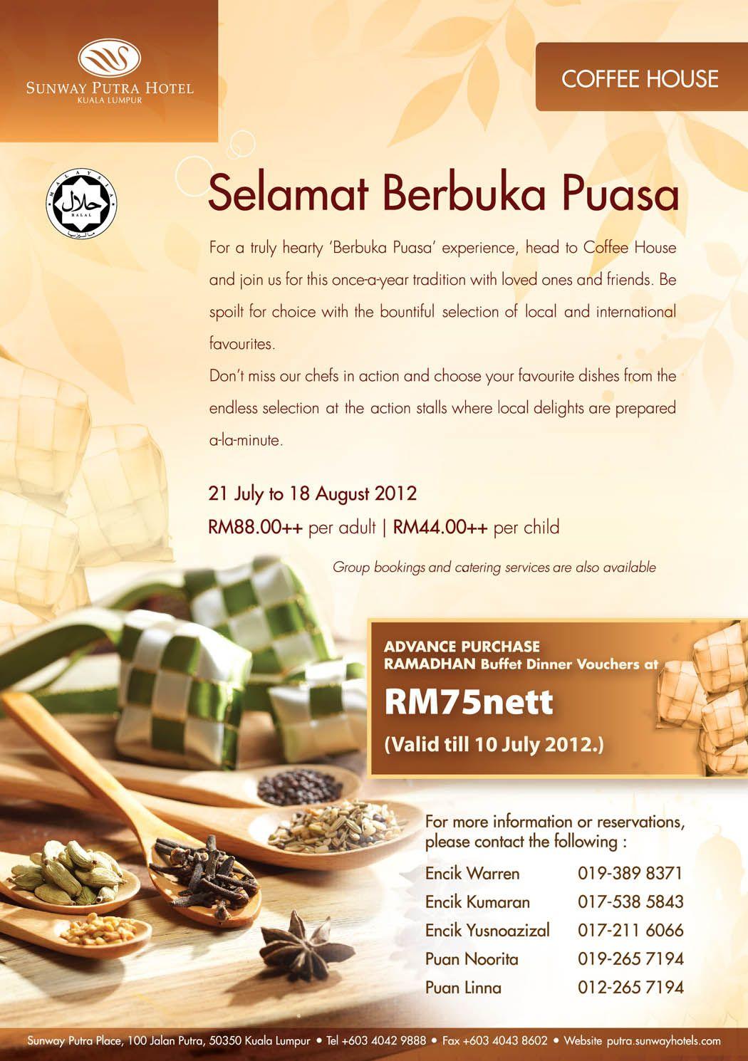 Good News! Sunway Putra Hotel Kuala Lumpur is offering