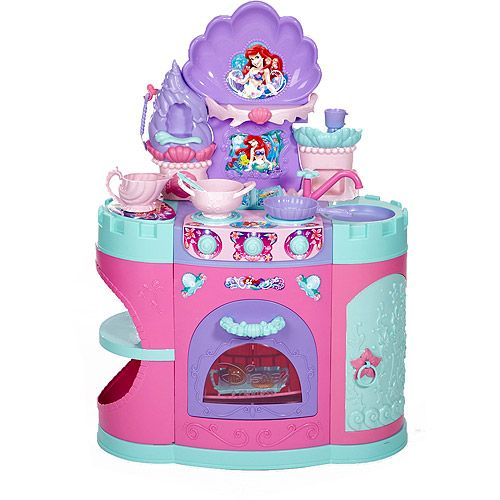 Little mermaid ariel 39 s magical mermaid kitchen play set for Kitchen set toy kingdom