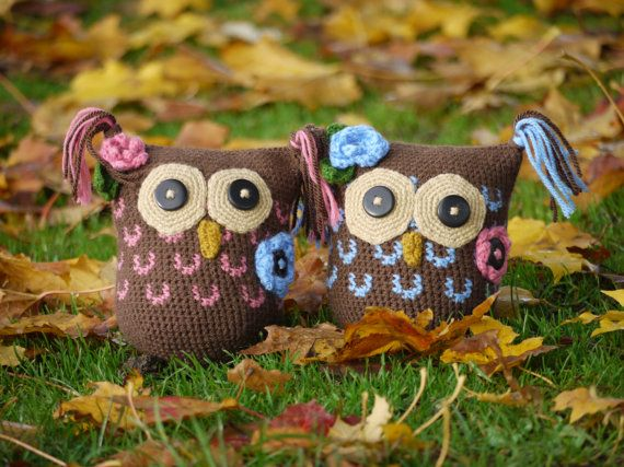 The Lullaby hand made owl soft toy by CherryBerryCrochet on Etsy