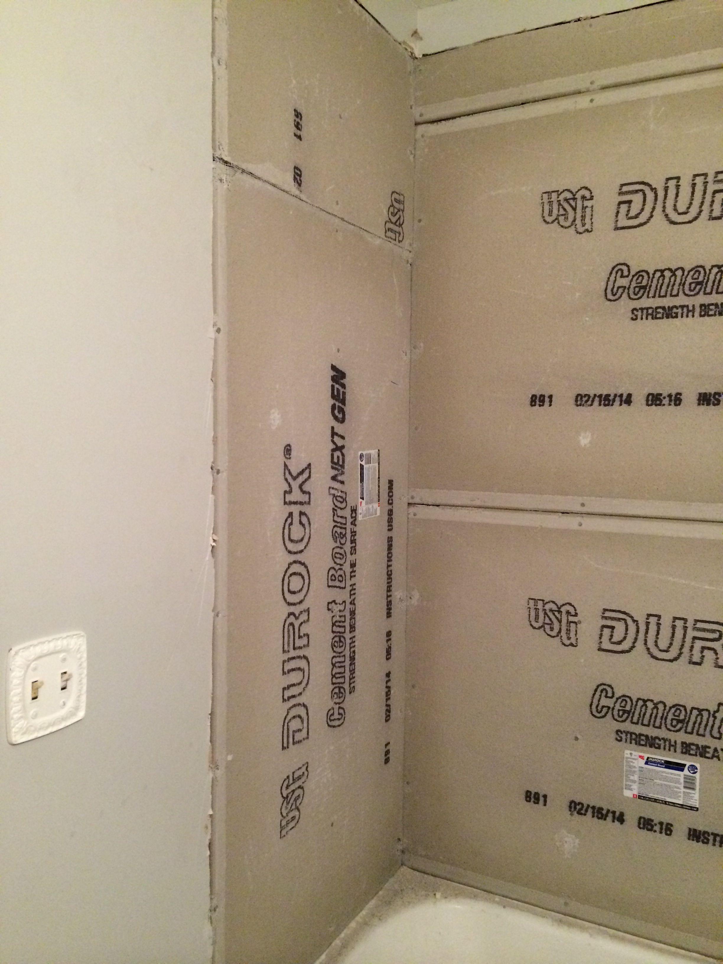 Installation Of Cement Walls Durock Main Bathroom