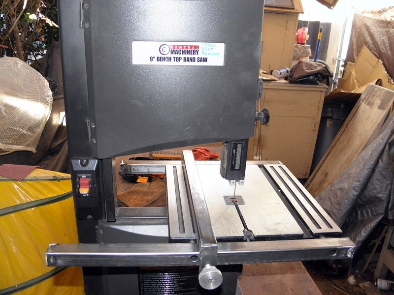 Harbor Freight Band Saw 9 Inch Mod Rip Fence And Support Frame Bandsaw Harbor Freight Bandsaw Saw