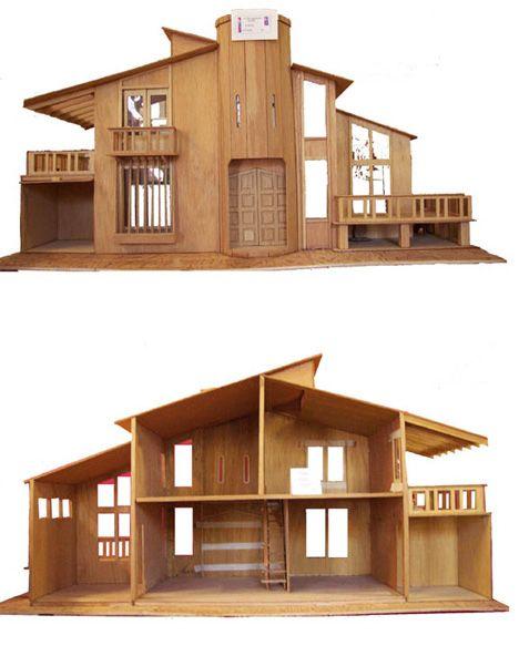 Mcm Miniature Home Doll House Plans Modern Dollhouse Dollhouse Design