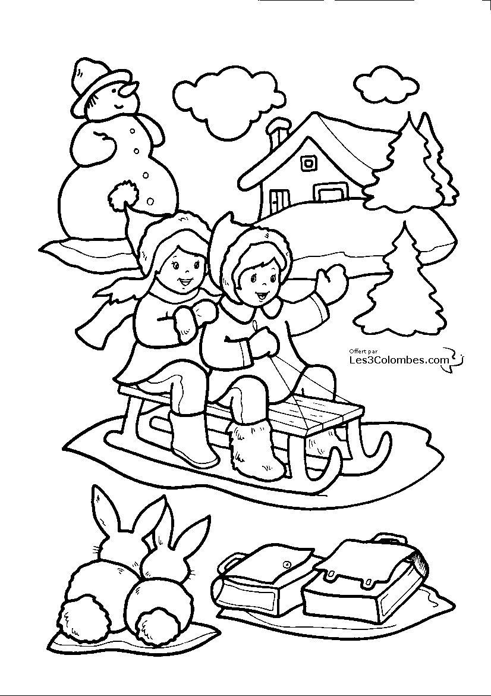 Cliquez pour voir l 39 image en taille r elle peri pinterest coloriage noel coloriage et - Coloriage en ligne enfants ...
