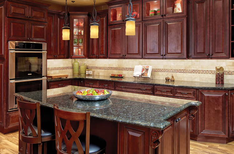 cherry hill raised panel – kitchen cabinets - solid wood cabinets
