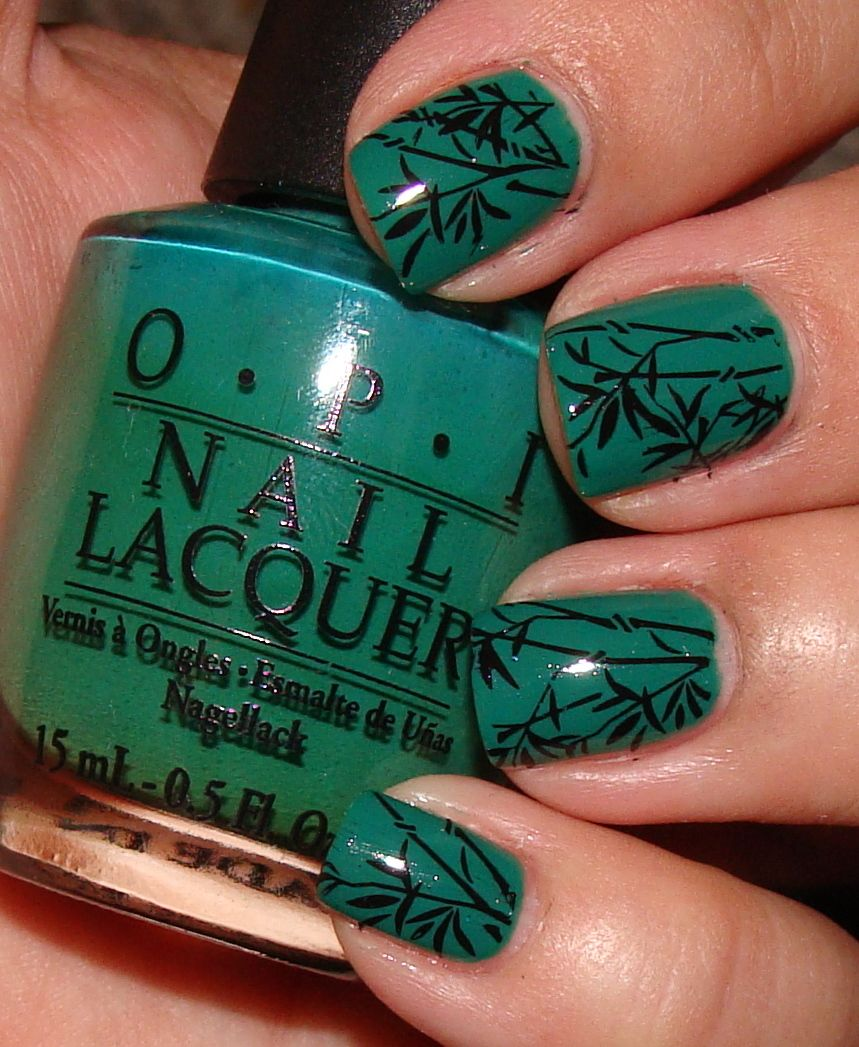 Image detail for -Simple Bamboo Nail Art Design with OPI and Konad ...