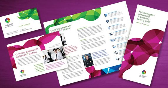Network Administration Brochure Template By Stocklayouts  It