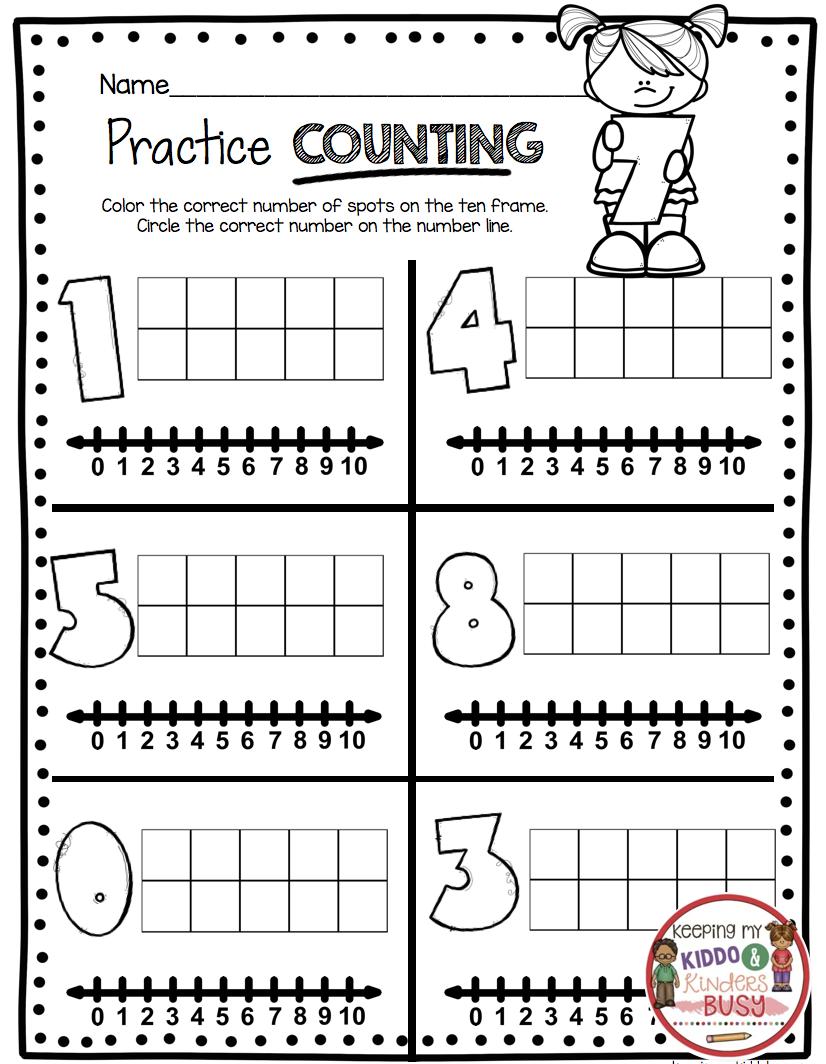 Counting And Cardinality Freebies Keeping My Kiddo Busy Numbers Kindergarten Kindergarten Math Units Kindergarten Math [ 1064 x 826 Pixel ]