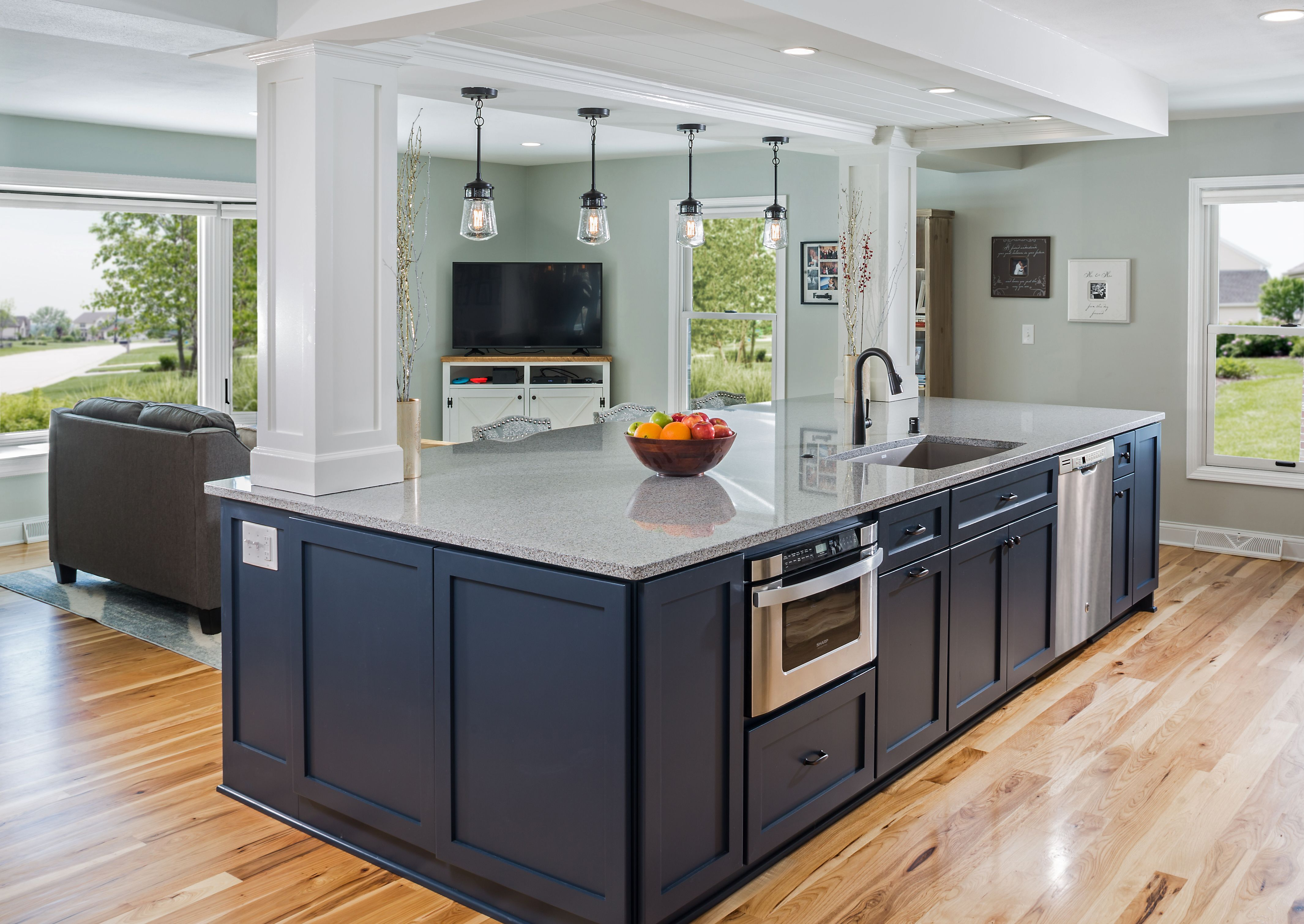 a new oversized island commands a presence while being decorative and functional it conceals on kitchen remodel with island open concept id=63653