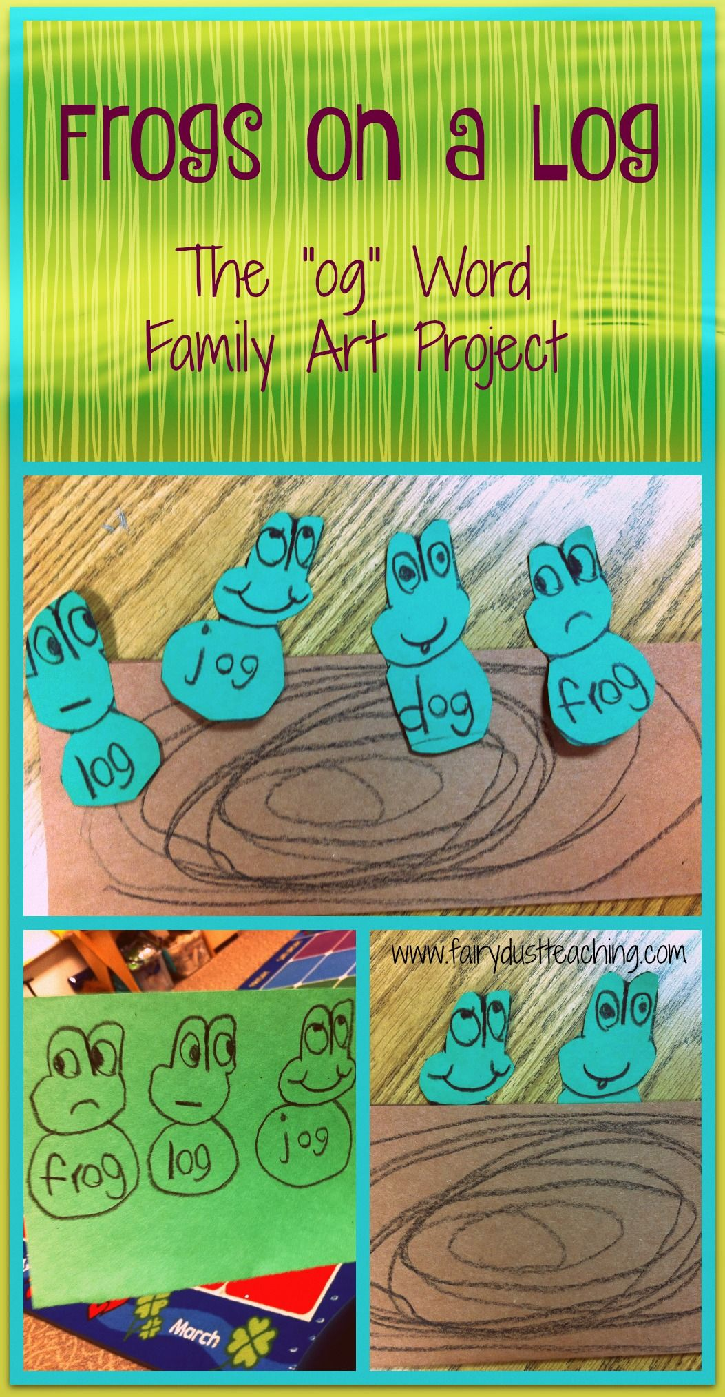 Frogs On A Log The Og Word Family Word Families Family Art Projects Rhyming Activities [ 2028 x 1053 Pixel ]