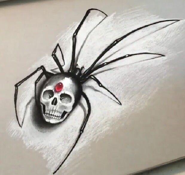 Black widow skull drawing. Cool tattoo idea | Tattoos ...
