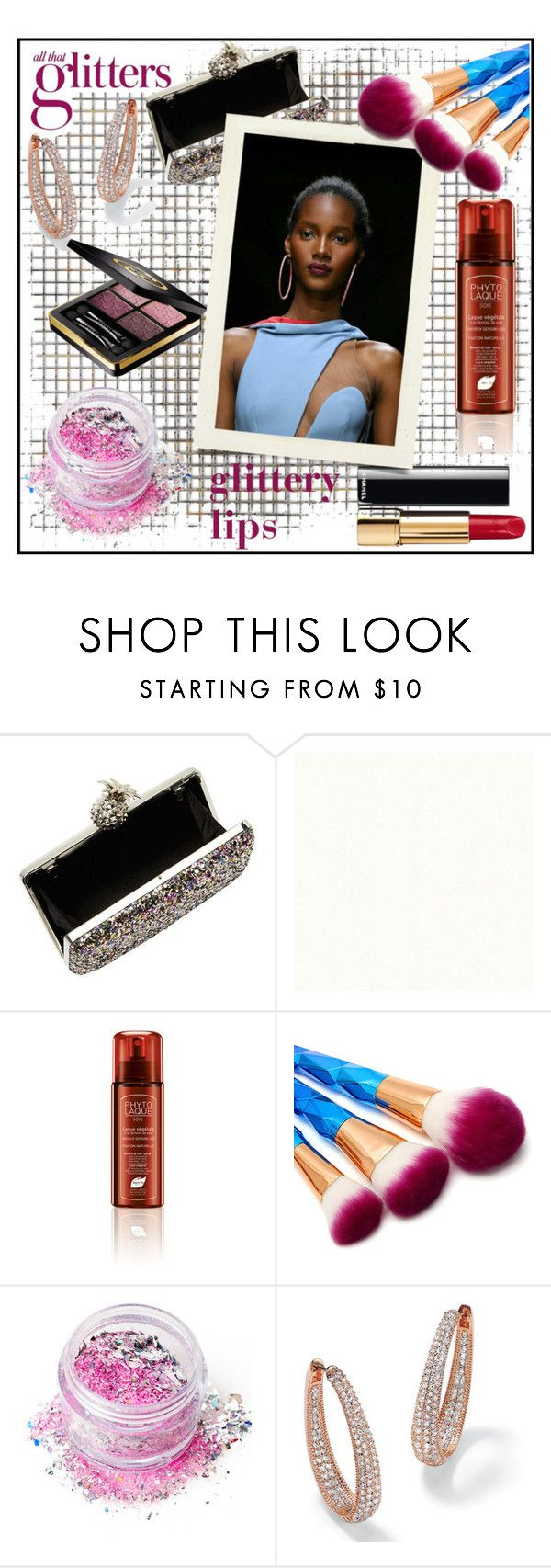 """""""GLITTERY LIPS!!!"""" by kskafida ❤ liked on Polyvore featuring beauty, Becca Cosmetics, Miss Selfridge, Phyto, In Your Dreams, Palm Beach Jewelry and Gucci"""