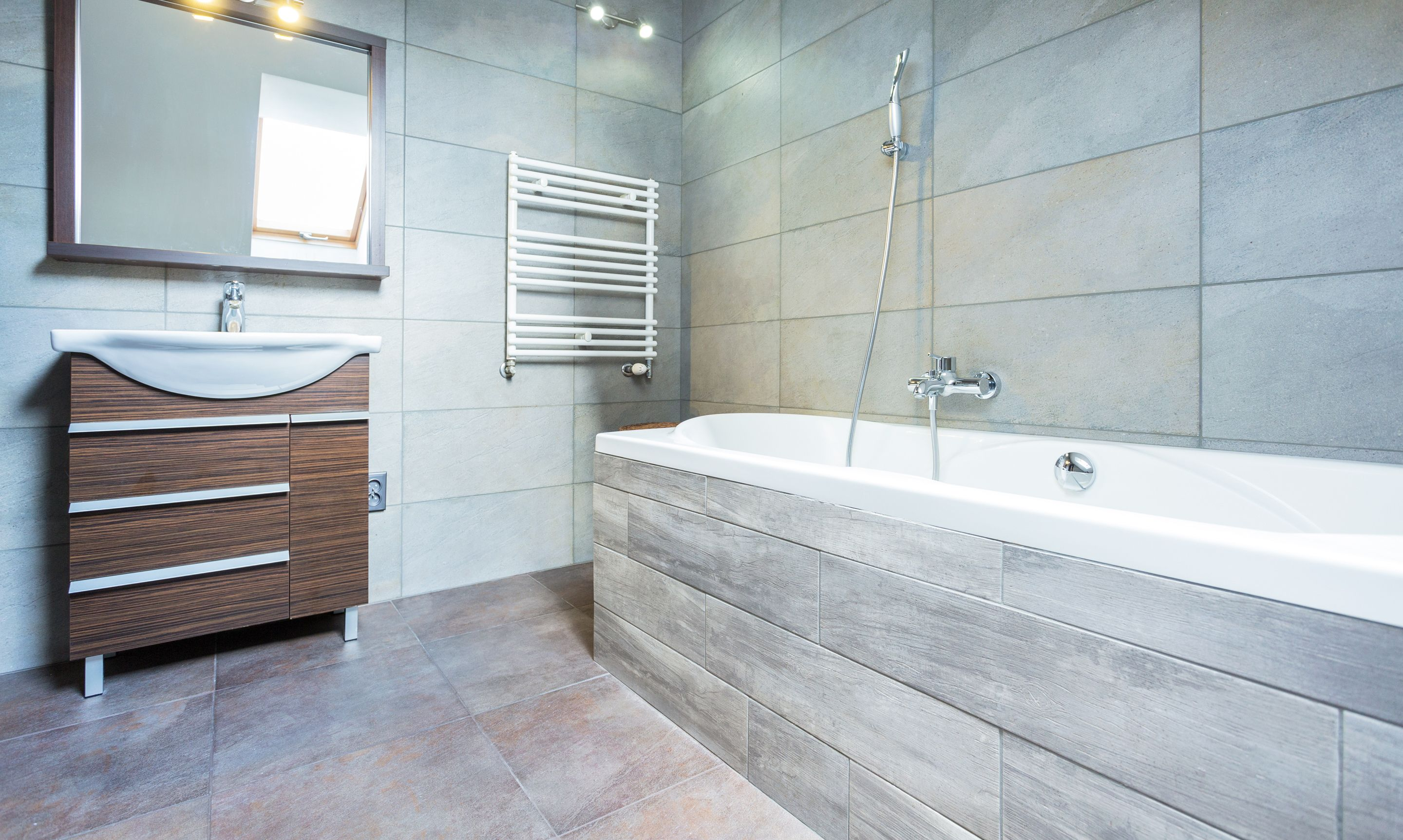 Create a #spa like retreat in your bathroom with #slate #stone ...
