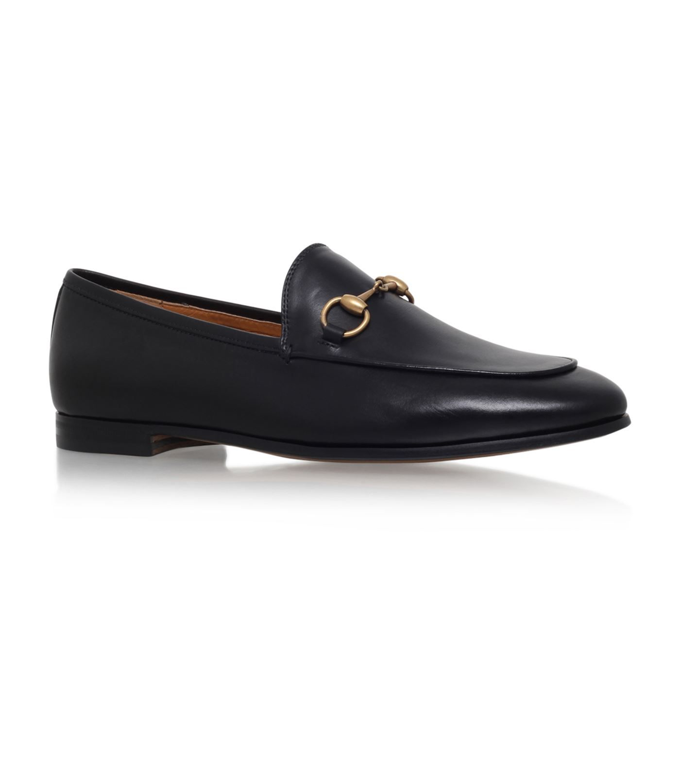 GUCCI LEATHER JORDAAN LOAFERS