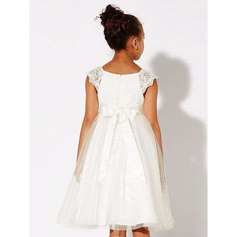 ee24b0a0ad Buy John Lewis Girl Lace Mesh Bridesmaid Dress, Ivory Online at johnlewis .com