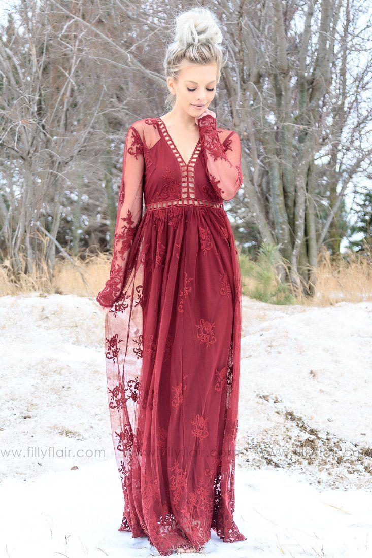 beautiful burgundy wedding guest dress ideas wedding dress
