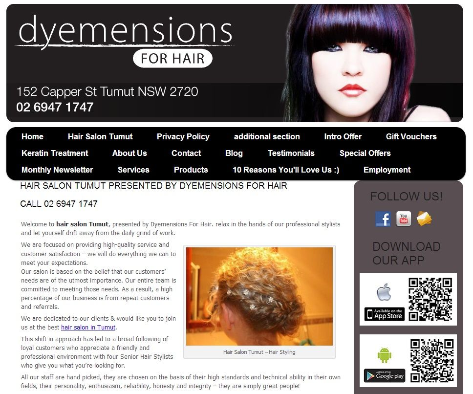 Pin On Hair Beauty Salon Websites In New South Wales