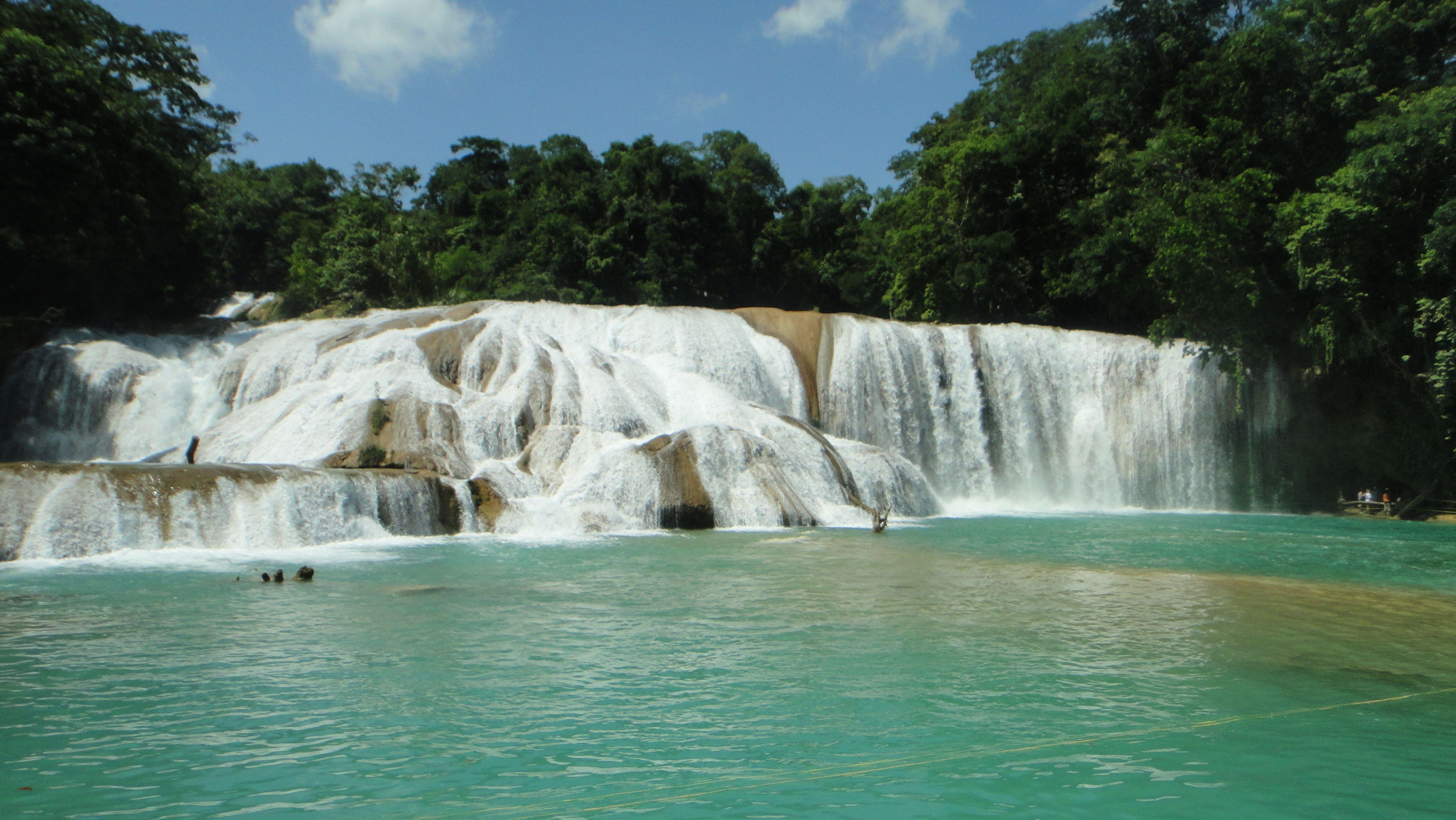 Cascadas de agua azul chiapas m xico cascadas de agua for Motor para cascada de agua