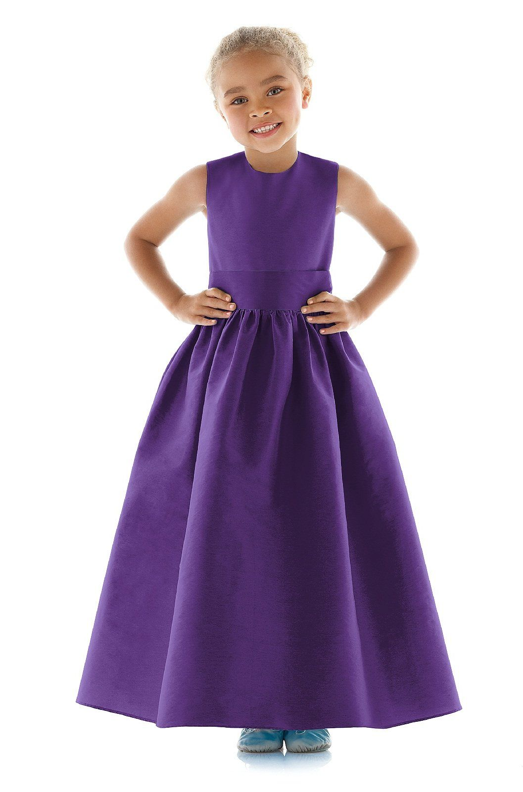 Dessy Purple Flower Girl Dress | Purple flower girl dresses | Pinterest
