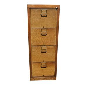 Industrial Wood Filing Cabinet By Steel Office Furniture Institute
