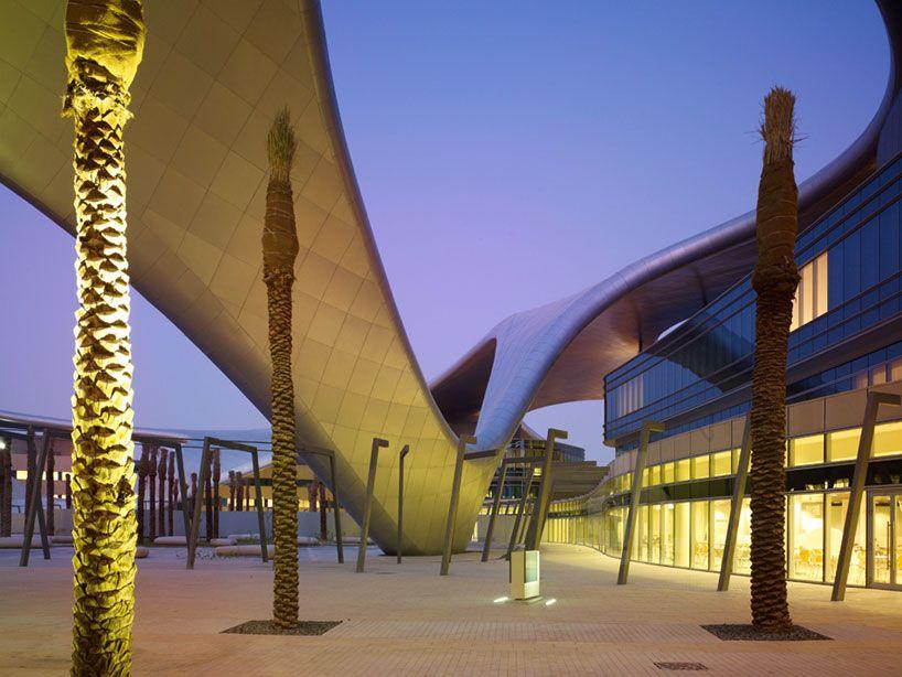 Undulating Canopy Unites Zayed University By BRT Architekten · University  ArchitectureFacade DesignCanopiesInterior ...