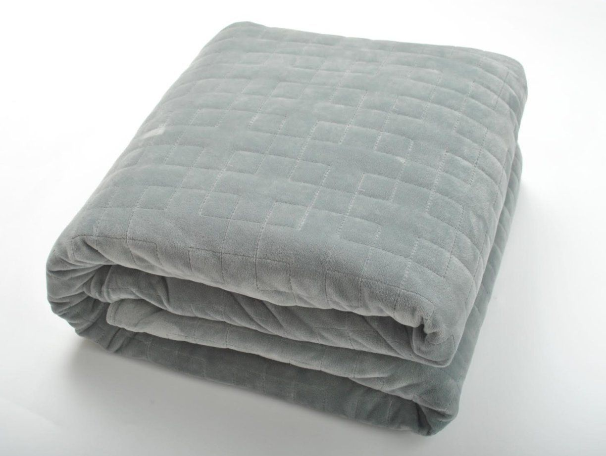 theraweight weighted stress and anxiety blanket 25lb 48 x78 grey