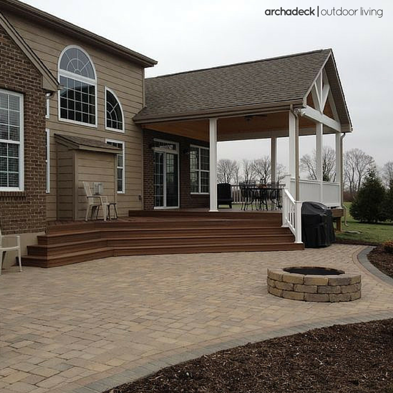 Very Nice Covered Deck And Patio Addition Which Looks Like