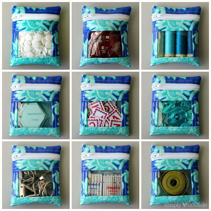 Peek-a-boo Mini Notions Bag Tutorial | SimplyNotable.com