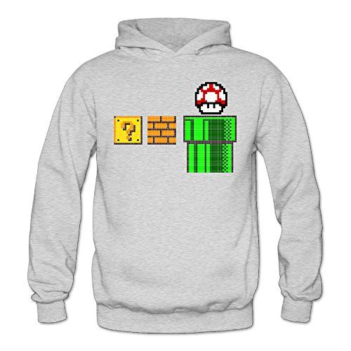 XJBD Womens Mario Special Hooded Sweatshirt Ash Size XXL >>> Find out more about the great product at the image link.