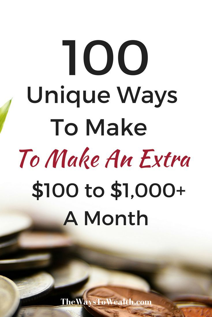 100+ Ways You Can Make Money From Home | Steven | Pinterest | Extra ...