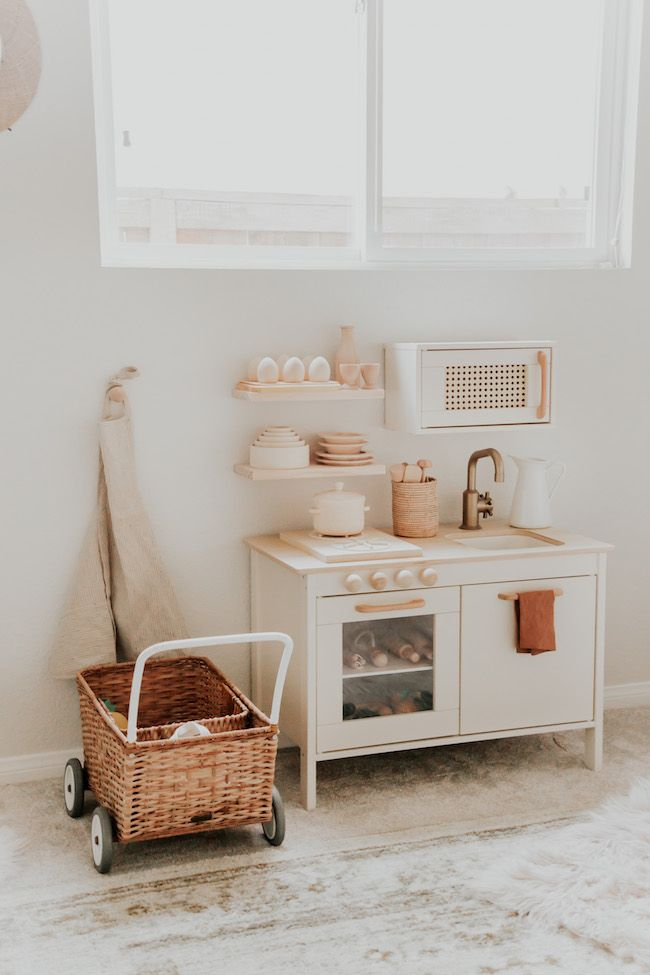 Adorable & Modern DIY Play Kitchen Makeover – Inspired By This